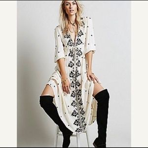 Free People White Embroidered Dress Size Medium